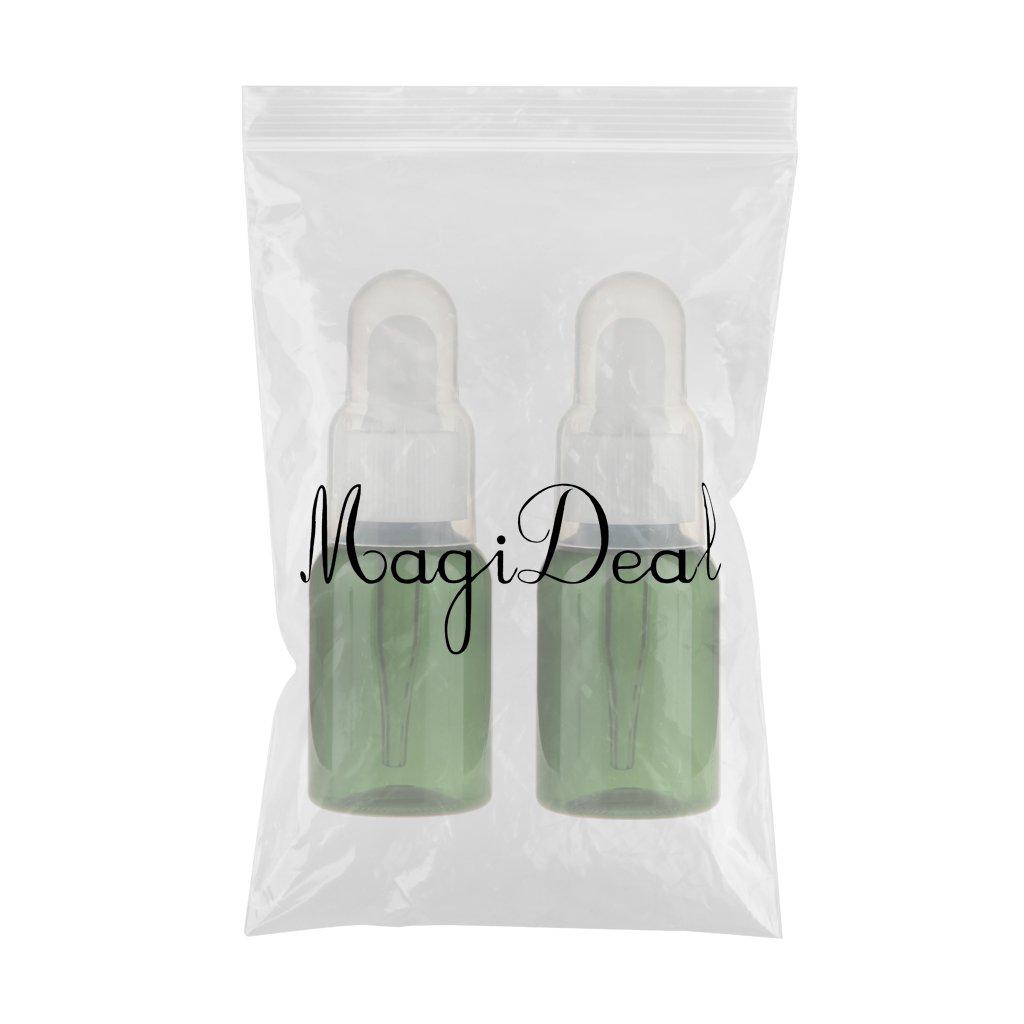 2pcs Botella Contenedor Frasco Gotero Pipeta Vacía Botellas de Muestra para Aceite Esencial 35ML: Amazon.es: Belleza