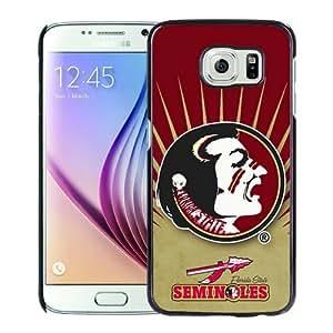 WANY Beautiful Classic NCAA Atlantic Coast Conference ACC Footballl Florida State Seminoles 2 Black Samsung Galaxy S6 Case