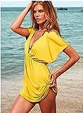 New Arrive Hot Women Skirt Dress Swimwear Sexy Bikini Cover up Summer Beachwear Brand Good Quality/color Yellow