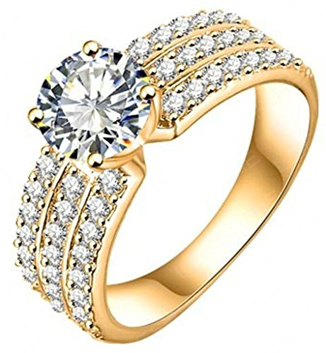 Jewelry Plated Womens Engagement Crystal