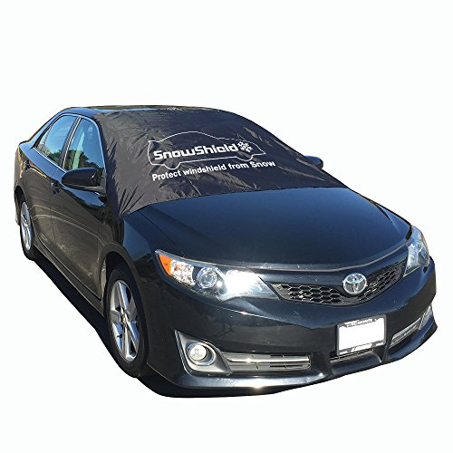 Large Windshield (Extra Large Magnetic Windshield Ice, Snow, Frost Cover for all car types with magnets, XL Universal fit for SUV, Truck, Sedan, Van by SnowShield)