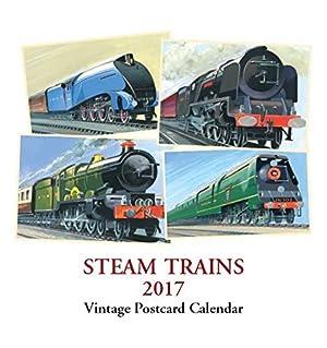 Steam Trains Desk Calendar 2017 - Vintage Postcards - Desk Series