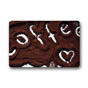 """Love For Coffee Customized Durable Home Decor Doormat 25.6""""x 15.7"""""""