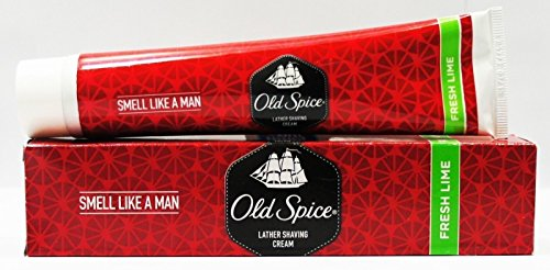 OLD SPICE LATHER SHAVING CREAM - LIME - 70g x 4