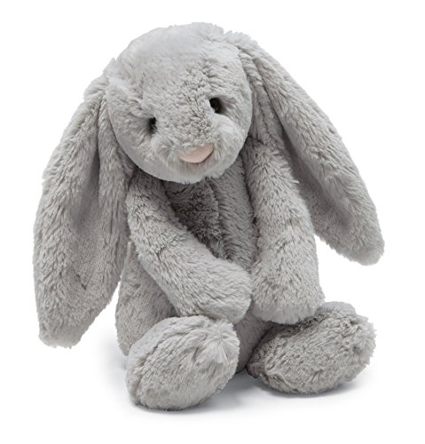 Jellycat Bashful Grey Bunny Stuffed Animal, Small, 7 inches ()