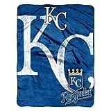 The Northwest Company MLB Kansas City Royals Micro Raschel Plush Throw Blanket, Trip Play Design