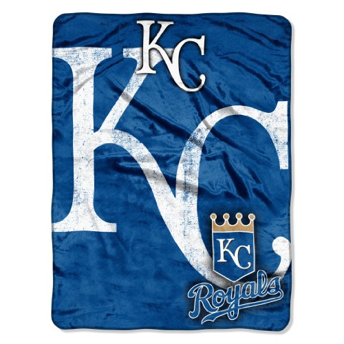 MLB Kansas City Royals Micro Raschel Plush Throw Blanket, Trip Play Design