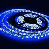 DODOLIGHTNESS LED Strip light, Waterproof,LED Flexible Light Strip 12V with 300 SMD LED, 16.4 Feet/ 5 Meter,3528 Blue With Adhesive Back.
