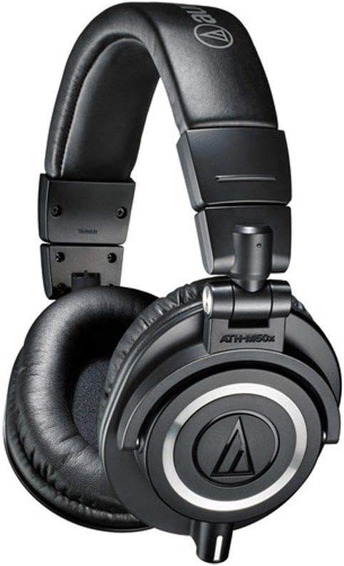 front facing Audio-Technica ATH-M50x