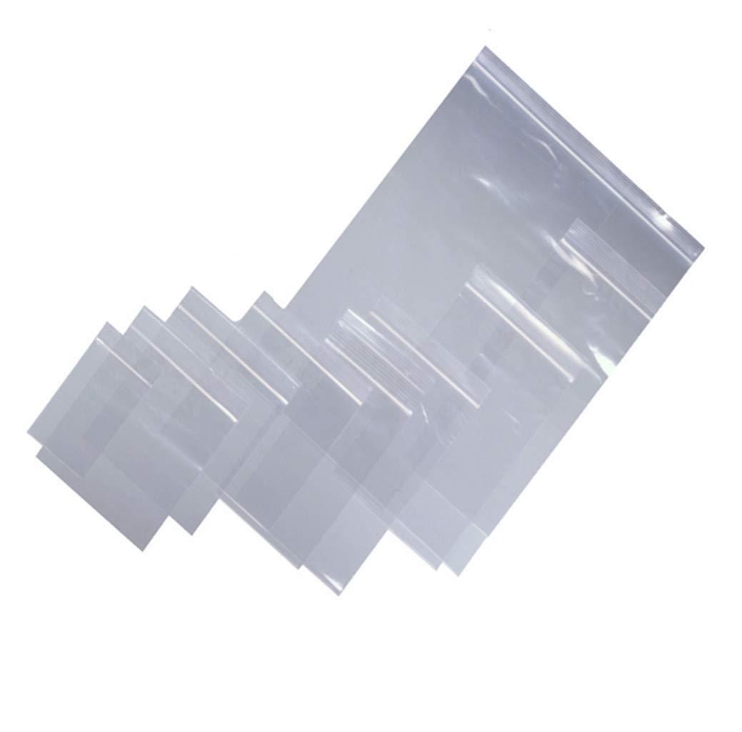 Bustine di plastica con grip riutilizzabili 10 x 14 cm 200g chiusura a zip forte x 100 pezzi