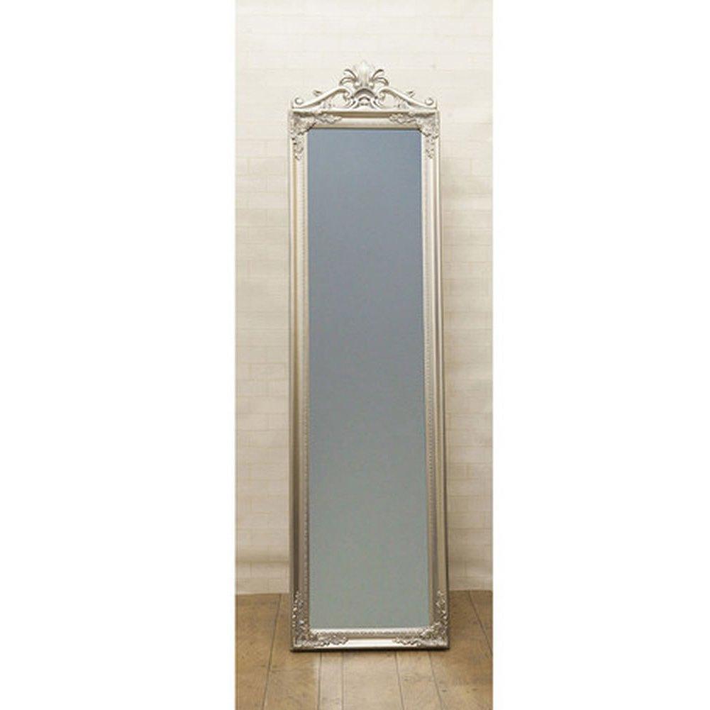 鏡 アンティーク調 チャーチルウッド フルレングスミラー クレスト:int-ak-cm16-140cyj (シルバー) B01CDUO5RIシルバー