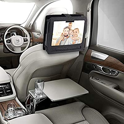 YOOHOO Tablet Car Headrest Mount Holder for Swivel & Flip Style Portable DVD Player (14 inch): MP3 Players & Accessories