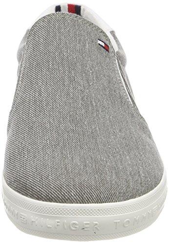 Hilfiger Ginnastica Grigio Light on Uomo Basse Scarpe Slip 004 Tommy Grey da Essential Sneaker UvqnpdWdP