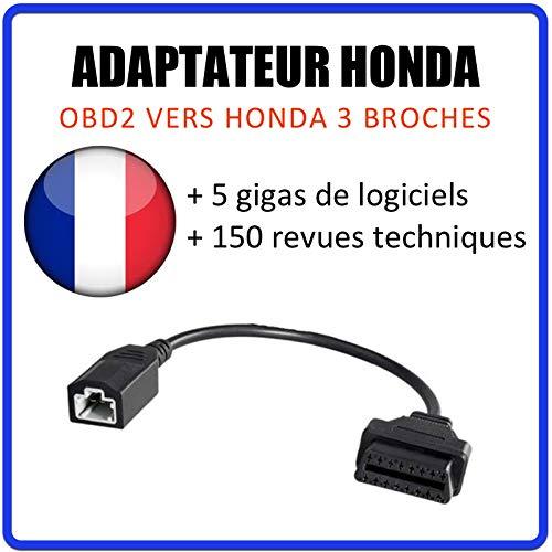 MISTER DIAGNOSTIC Adaptateur Honda 3 Broches vers OBD2