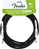 Fender Performance Series Instrument Cables (Straight-Straight Angle) for electric guitar, bass guitar, electric mandolin, pro audio