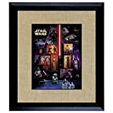 American Coin Treasures Star Wars U.S. Stamp Sheet In 16x14 Wood Frame