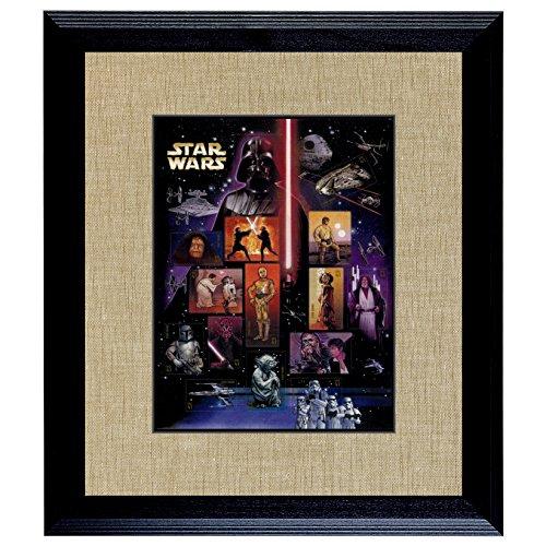 American Coin Treasures Star Wars U.S. Stamp Sheet In 16x14 Wood Frame (Star Wars Dropship)