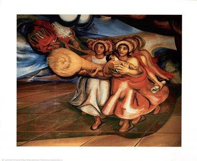 Safety of All Mexicans by David Alfaro Siqueiros - 27x22 Inches - Art Print Poster ()