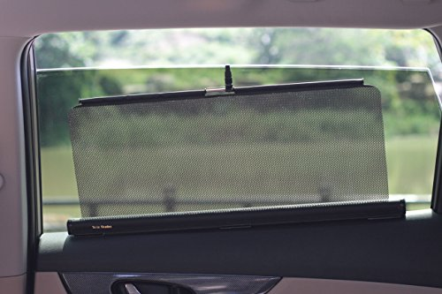 (Tesla Shades--Retractable Shades Type A (Two Shades, 22 Inches Wide, Fit Rear Side Windows with Straight-lined Tops. Two-years Warranty.))