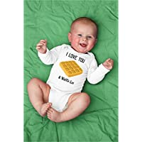 Funny I Love You A Waffle Lot Baby Bodysuit for Breakfast Puns Lover