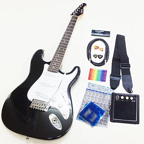 エレキギター 初心者入門セット スーパーベーシックセット Legend LST-Z ストラトタイプ BKBK [98765] B00DM3NF90 BKBK ブラック マッチングヘッド BKBK ブラック マッチングヘッド