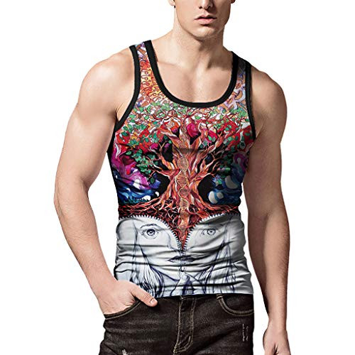 iYYVV Personality Mens 3D Print Whale Casual Slim Short-Sleeved Shirt Top Blouse