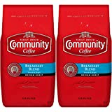 Community Coffee Premium Ground Coffee, Breakfast Blend, Medium Roast, 32 oz, (Pack of 2)