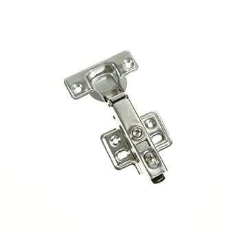 1pcs 35mm Soft Close Straight Bend Full Cover Hydraulic Hinges Cabinet Kitchen Door Hinge Cup Half Overlay Insert Embed Hinges Amazon Com Industrial Scientific