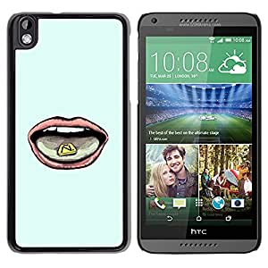 MOBMART Carcasa Funda Case Cover Armor Shell PARA HTC DESIRE 816 - Licking The Letter N