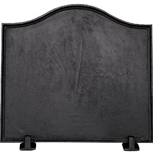 Plain Fireback (Alpine Flame 24-inch Plain Black Cast Iron)