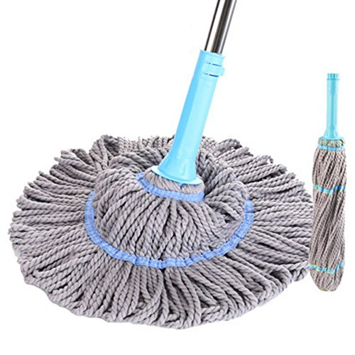 Kylin Express Professional Plus Microfiber Twist Mop Keeps Hands Dry with This Sturdy Mop,#C2