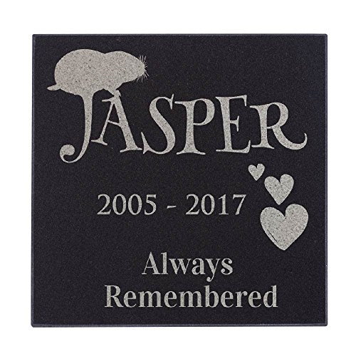 Hamster - Always Remembered Hearts Hamster Memorial Personalized Grave Stone for Hamster | Granite