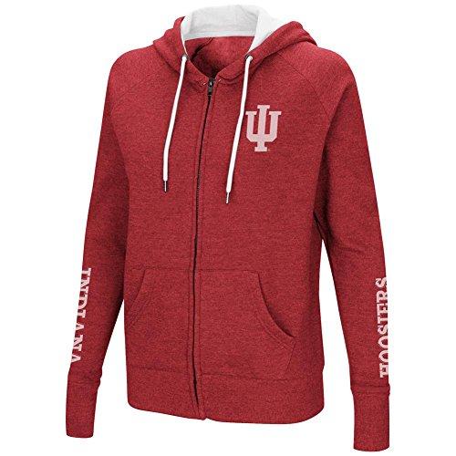 Indiana Womens Hoody Zip Sweatshirt - Colosseum Indiana University Hoosiers Women's Full Zip Hoodie Sweatshirt (X-Large)
