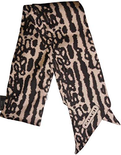 Coach Animal Print Ponytail Bandana Double Sided Scarf bag Decoration Holiday - Print Bag Coach Animal