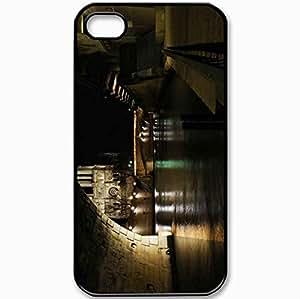 Protective Case Back Cover For iPhone 4 4S Case Bridge Of Notre Dame Paris France Black