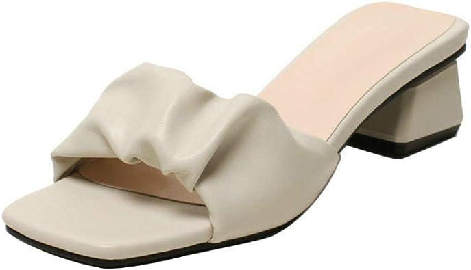 CYBLING Women's Peep Toe Summer Slide