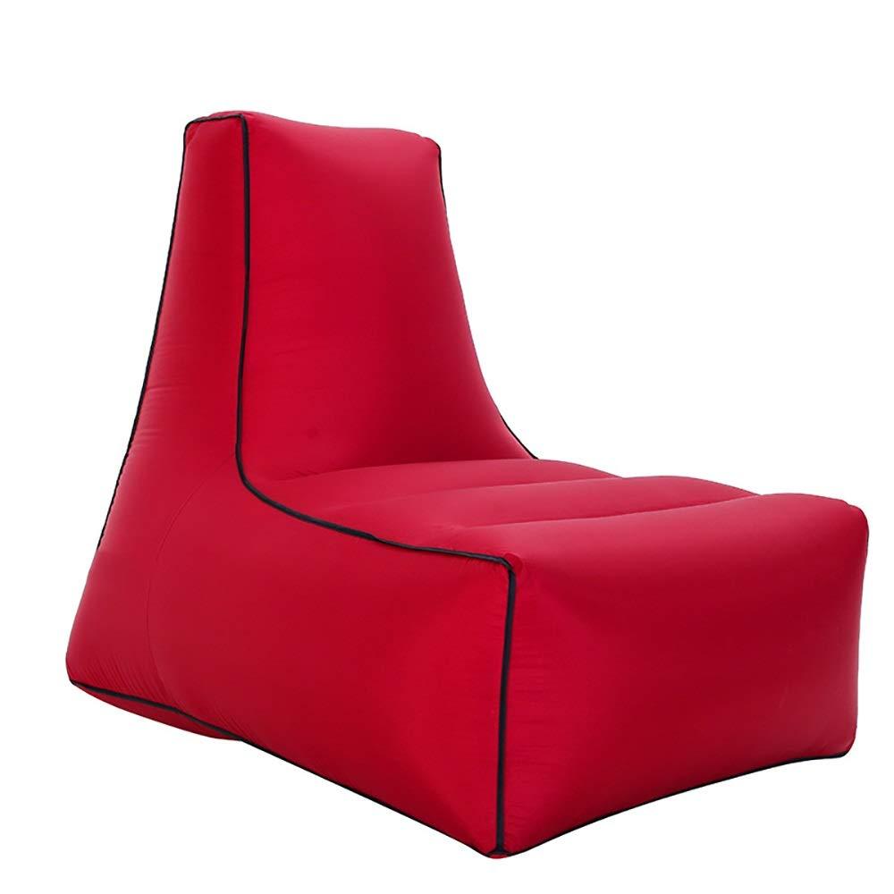 rouge M(85x70x80cm) Air Bed intérieur et extérieur Plage Sac de Couchage Paresseux Lit Gonflable portable Air Sofa Décompression et Artefact de Relaxation