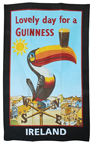 Official Guinness Toucan On Weather Vane Pure Cotton Tea Towel (sg)