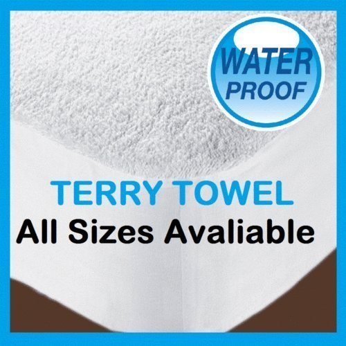 YansWarehouse Waterproof Terry Towel Fitted Sheet Bed Cover Anti-Allergenic Mattress Protector with Extra Deep 12