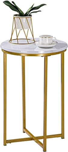 Sofa Side End Table, HomVent Coffee Table with Storage Shelf, Mobile Bedside Table Snack Table TV Tray, Nightstand for Living Room Bedroom Office End Table 6