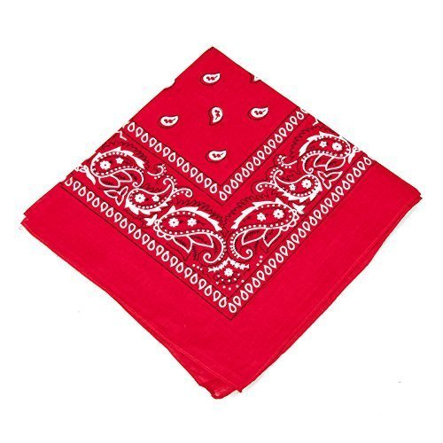 Adult / Kids Red Cotton Fancy Dress Bandana (WORLD BOOK WEEK / BOOK DAY)