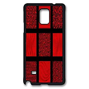 Red and Black Waves Design Hard Case for Samsung Galaxy Note 4 -1126093