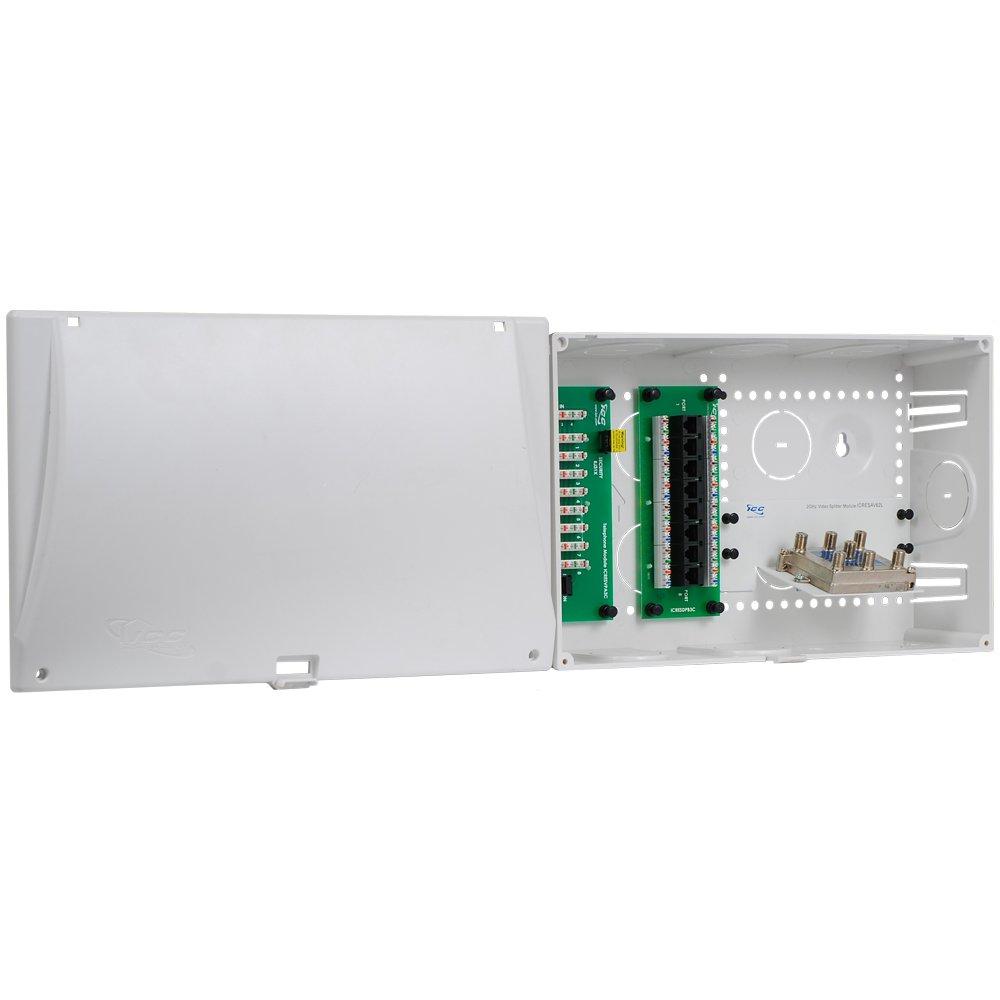 ICC 9'' Plastic Combo Voice/Data/Video Structured Wiring Enclosure