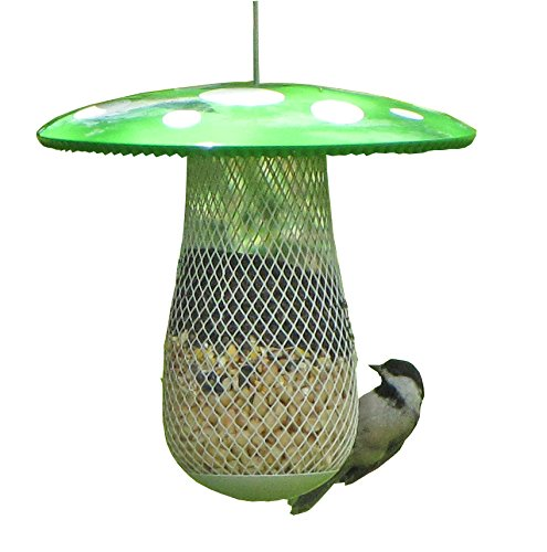 The Best Wild Bird Feeder to Attract More Wild Birds, Fill it with Sunflower Black Oil Seeds, Peanuts and Suet Pellets Easy to Install, Clean & Fill, Great Gift for Friends and Family! (Green)
