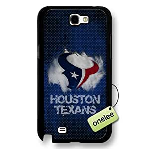 NFL Houston Texans Team Logo Diy For SamSung Note 3 Case Cover Black Hard Plastic - Black