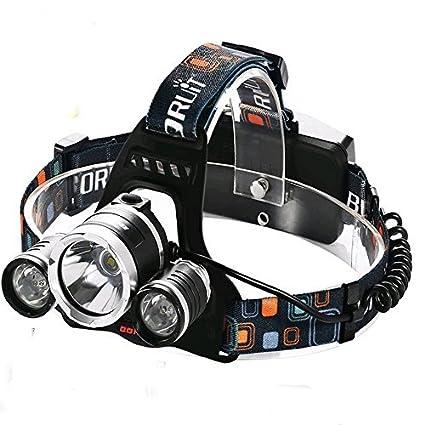 Amazon Com Boruit Rj 5000 Led Headlamp Headlight 6000lm 3 X Cree Xm
