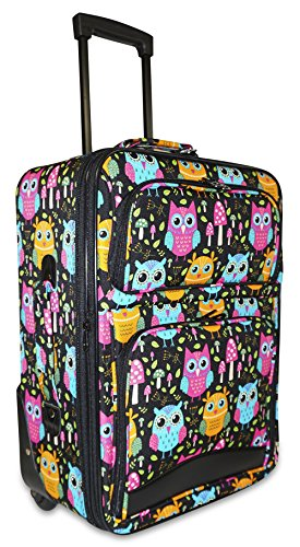 Ever Moda Owl Carry On Luggage