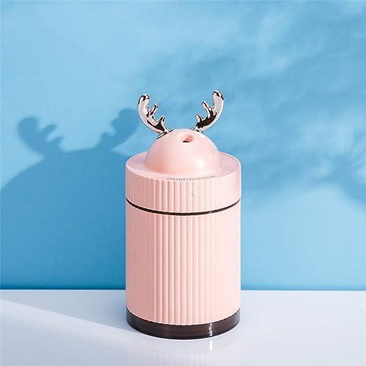 Difusor de aceites esenciales para aromaterapia Mini humidificador de niebla, purificador de aire USB Little Deer con luz LED de color for el dormitorio Office Car Difusores de aroma Humidificadores d: Amazon.es: