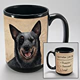 Dog Breeds (A-K) Australian Cattle Dog 15-oz Coffee Mug Bundle with Non-Negotiable K-Nine Cash by Imprints Plus (003)