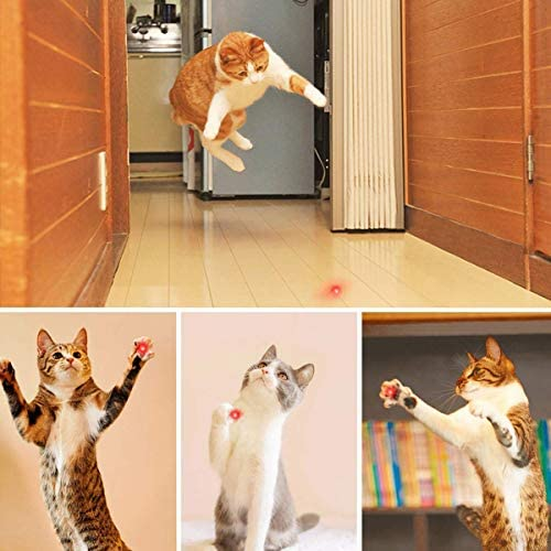 Belesion Cat Toy,Rechargeable Chase Cat Toy, 3 Mode,Cats Multi Pattern Funny & Mini Flashlight Interactive LED Light Entertain and Train Your Cat Kitten Dog Pet - USB Charging 7